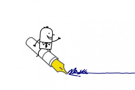 Pen Content Marketing stick man