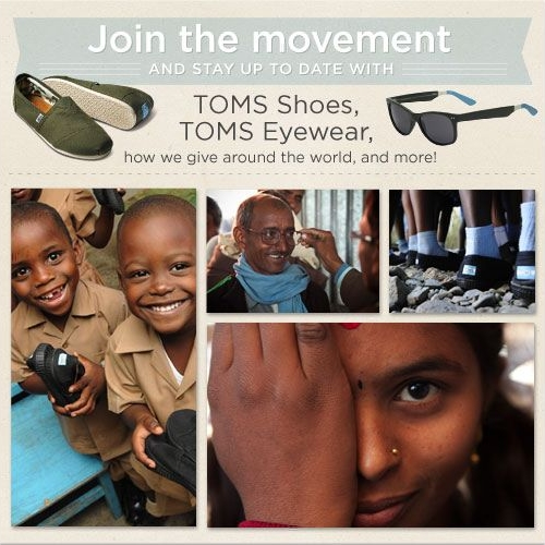 TOMS Shoes Facebook Call to Action