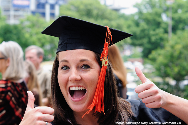 graduate thumbs up