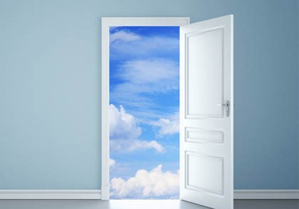 open door clouds