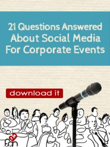 social media for corporate events white paper