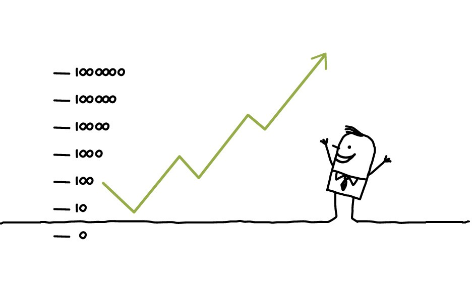 Social Media Measurement Analytics Stick Man Illustration