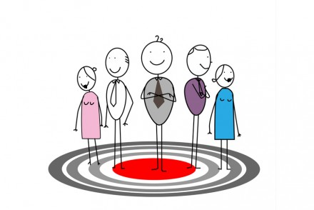 Stick People Target Marketing Advertising Sketch_Depositphotos_9737736_s