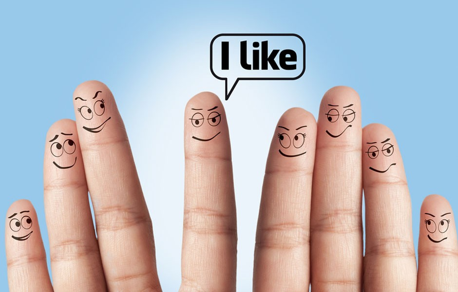 Facebook Like Fingers