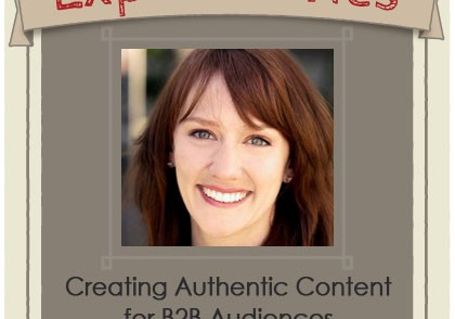 Creating authentic B2B content and social media. Expert interview with Shelley Callahan.
