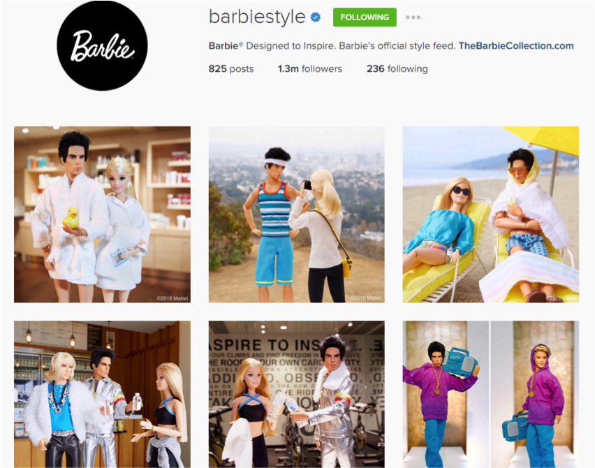 Barbie Instagram Profile Zoolander Posts
