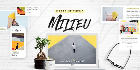 milieu wordpress theme